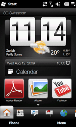 TouchFlo 3D was delivered via Custom ROMs to older Windows Mobile devices.