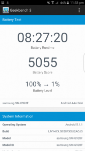 Battery Test Result