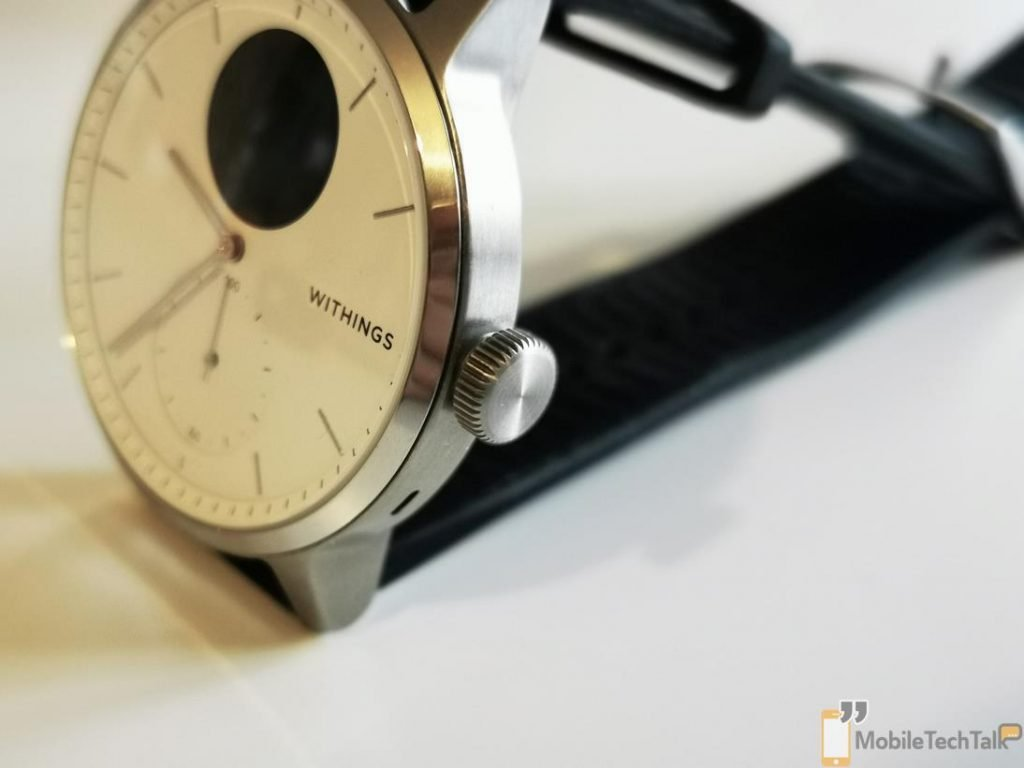 Withings ScanWatch crown closeup