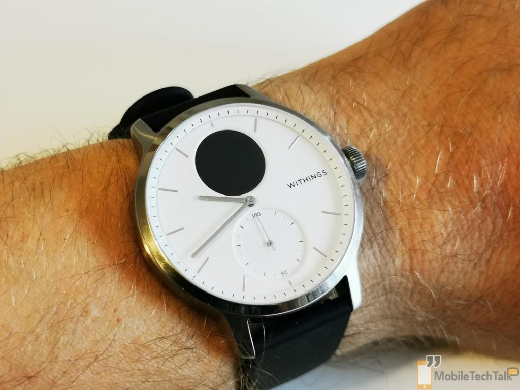 Withings ScanWatch on wrist